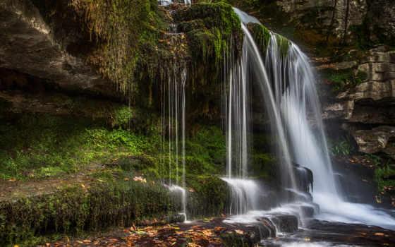 модель, водопад,
