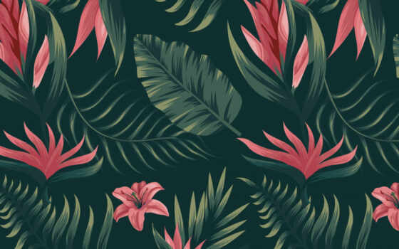 pattern, цветы, tropical, текстура, watercolor, цитата, palm, white, цвета