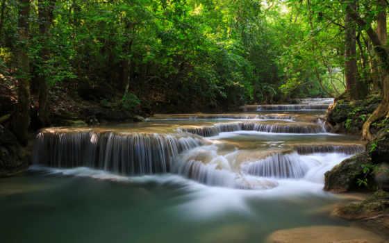 река, лес Фон № 6542 разрешение 1920x1080