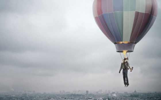креатив, город, шар, огонь, человек, воздушный, смог, картинка, advertising, полет, ads, callegari, berville, картинку, grey,