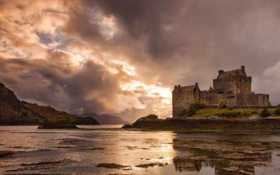 замок, castle, донан, eilean, эйлен, шотландия, замoк,