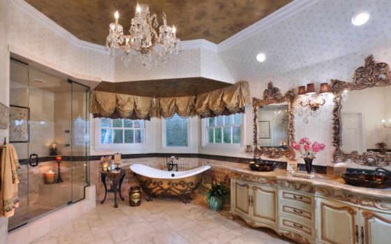 ванная, комнаты, design, интерьер, classic,