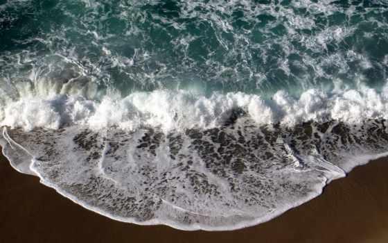 море, волны, волна, песок,
