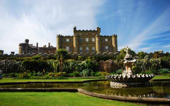 castle, culzean, замки, scotia, шотландии, крепости, картинка, города,