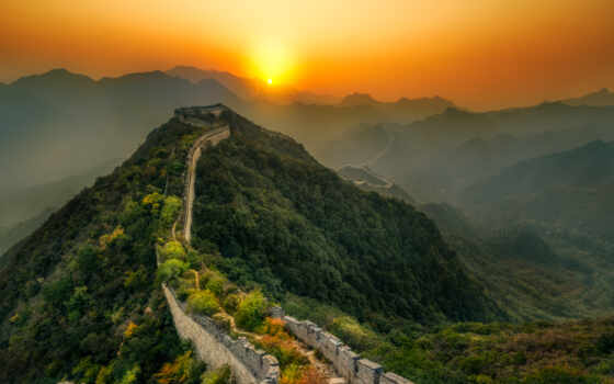 стена, great, china, abandon