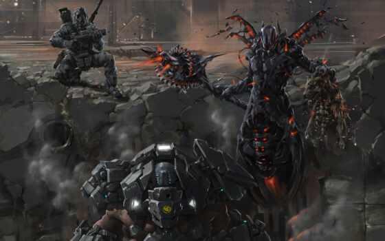 воин, fentezti, оружие, доспех, monster, арта, id, robot, fantastic, kartinika, free