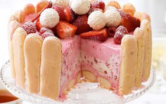 десерт, клубника