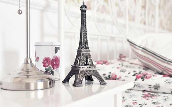 красивые, эйфелева, turret, статуэтка, телефон, заставки, телефона, розы, eiffel, тур,