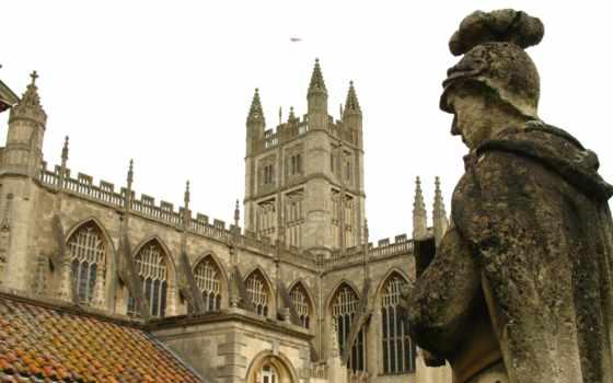 ванна, roman, baths, great, abbey, англия, батское,