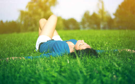 музыка, трава, relax, релаксация, девушка, зелёная, зелёный, lying, исцеление,