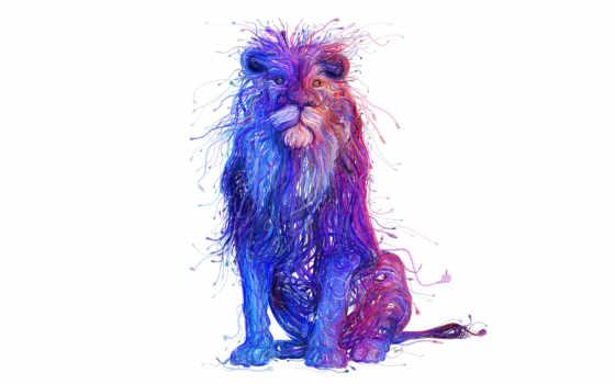 lion, art, russian, далее, wired, tsevis, краски, desktop,