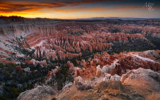 каньон, national, park, bryce, point, utah, inspiration, usa,