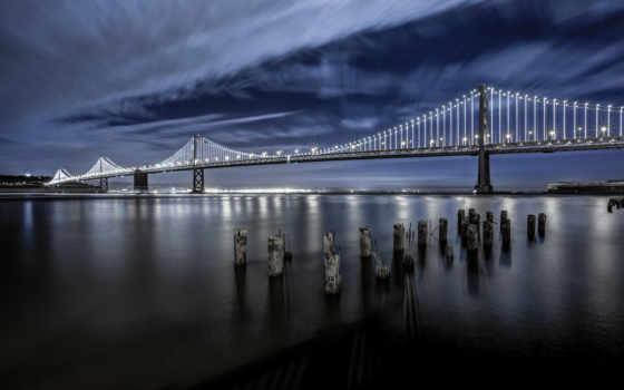 bay, мост, san, francisco, огни, код,