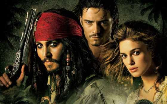 джек, воробей, пиратский, море, captain, сниматься, caribbean, elizabeth, will