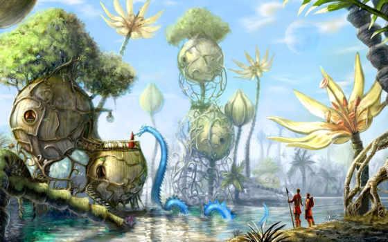 revoy, david, fantasy, фантастический, пейзаж, флеш, игры,