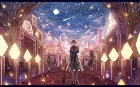 cat, bou, moon, animal, nin, dress, boots, similar, hair, night, original,
