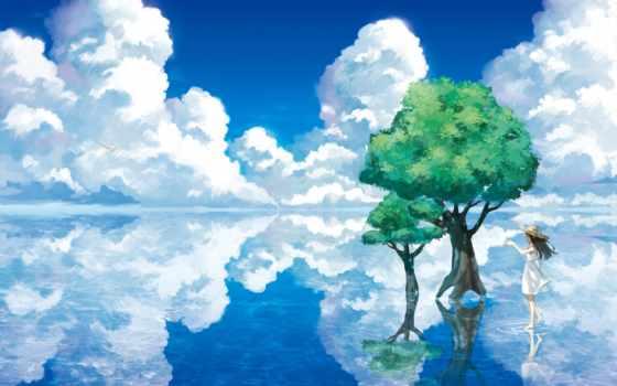 деревя, art, anime