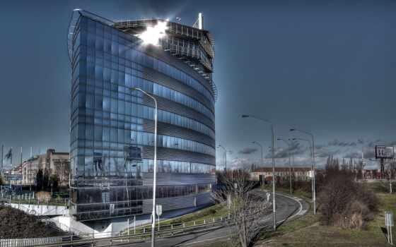 офис, building, glass