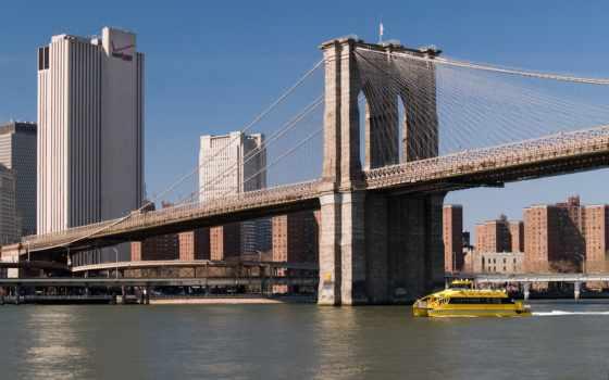мост, бруклин, new