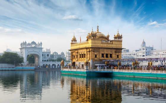 india, город, города, красиво, sahib, harmandir, золотистый, фотообои,