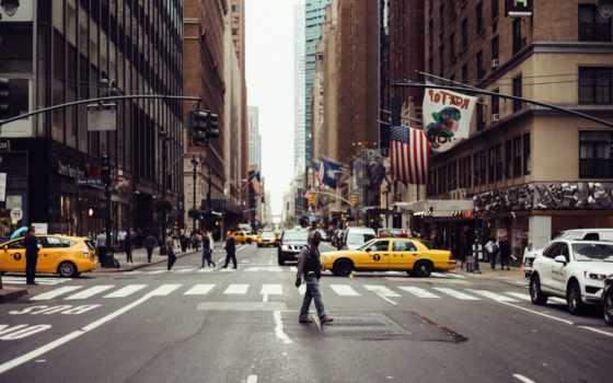 улица, лицо, manhattan, york, new, cityscape, car, город, urban, scene