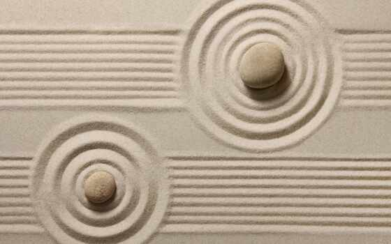 песок, zen, камень, circle, garden, normirovanie