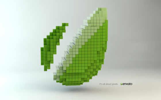 пиксели, листок