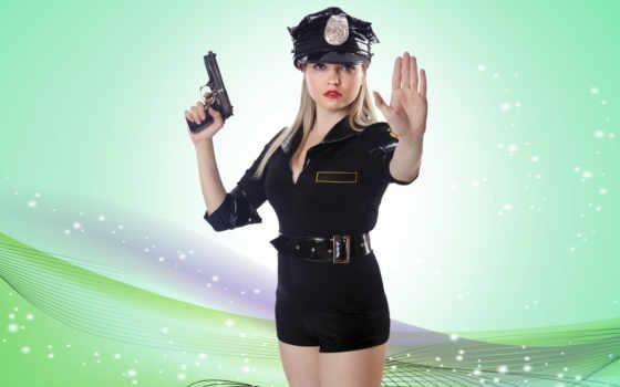 devushka, полицейский, devushki