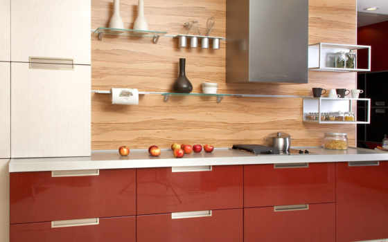 bez, кухни, кухня, шкафов, навесных, dizain, кровати,
