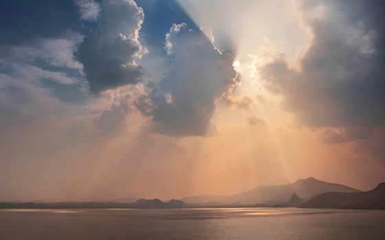 море, горы, закат Фон № 154733 разрешение 1920x1080