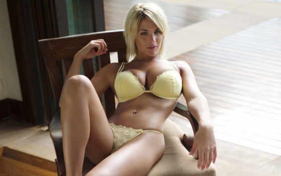 , белье, желтое, белье, большая грудь, блондинка