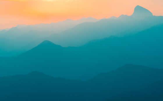 ,, небо, mountainous landforms, горный хребет, хребет, горизонт, атмосфера, гора, рассвет, дневной, утро