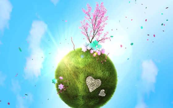 весна, планета Фон № 32834 разрешение 1920x1080