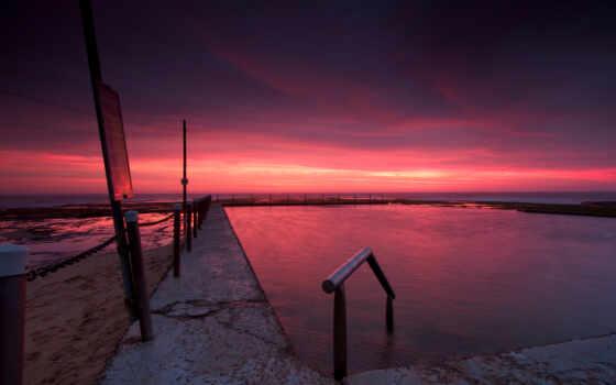 вечер, небо, закат Фон № 57006 разрешение 1920x1080