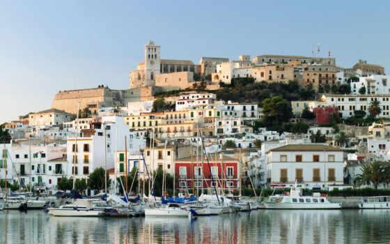 испания, ibiza, остров, широкоформатные, города,