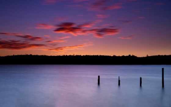 природа, закат, озеро Фон № 71184 разрешение 2560x1600