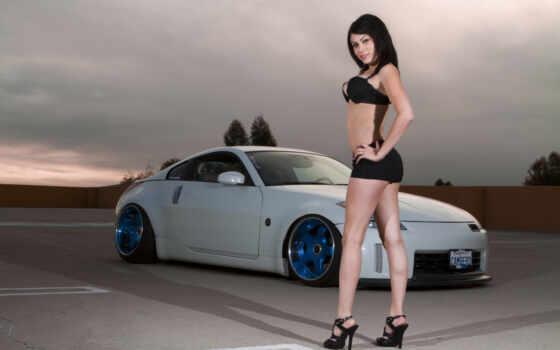 девушка, машины, автомобили