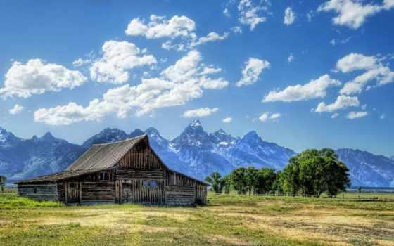 пейзажи -, lodge, landscape, небо, трава, favourite, фотографий, россии,
