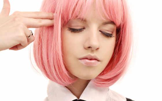 девушка, волосами, волос, розовыми, волосы, за, вышивка, крестом, схема, fallout, maintenance,