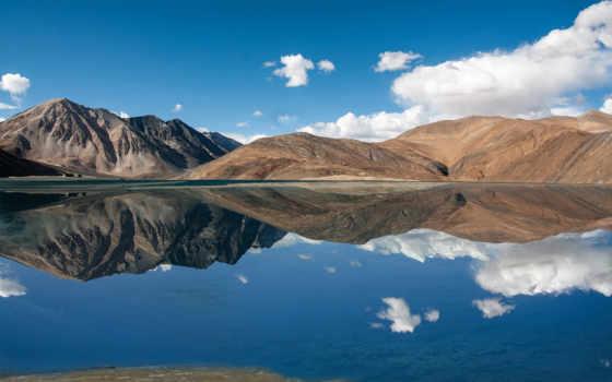 озеро, india, pangong, famous, kashmir