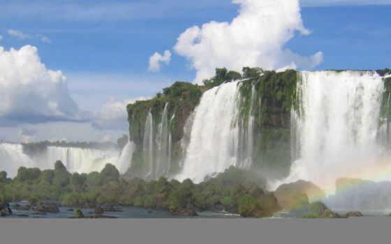 зи, водопады, водопад, компьютера, разместите, открыть, красавица,
