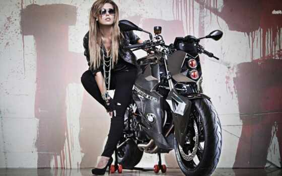 мотоцикл, фара, девушка, babe, тюнинг, мотоциклы, bike,