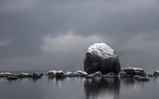 чёрно, белое, природа, камни, water, white, тегу, вершины, найти, тегам,