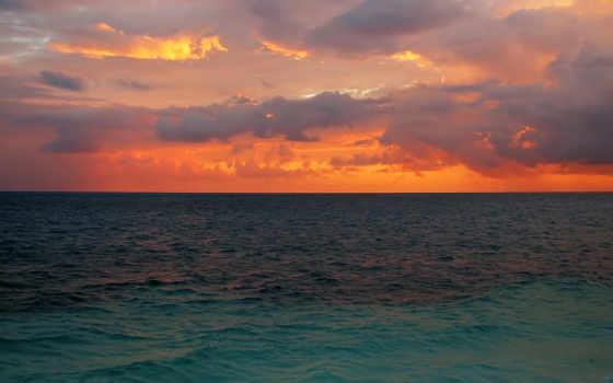 природа, гладь, спокойная, затихло, озера, пение, моря, sun, небо, лесного, бесплатные,