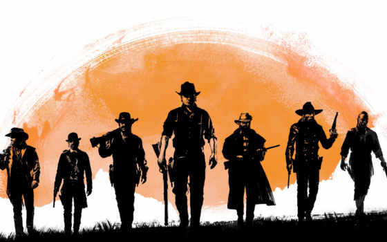 dead, red, redemption, game, characters, плакат,