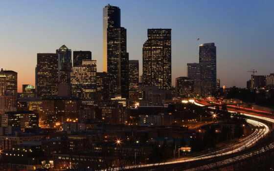 город, ночь, landscape, красивый, миро, urban