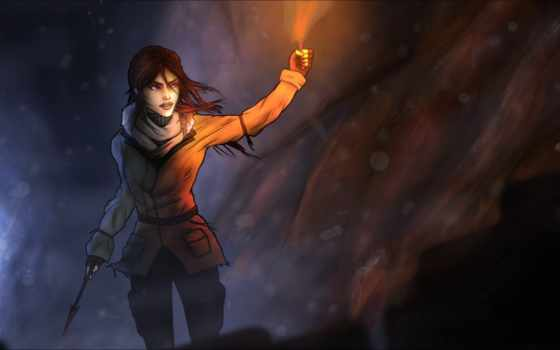 tomb, raider, факел