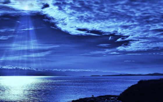 море, взгляд, луна