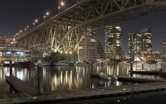 vancouver, мост, город, канада, granville, улица, канады, качества,