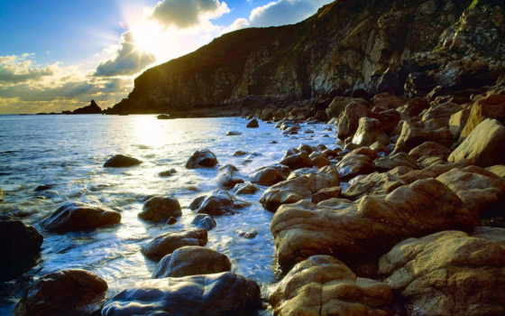 крымский, скалы, морские, море, rock, совершенно, wpapers, свой,